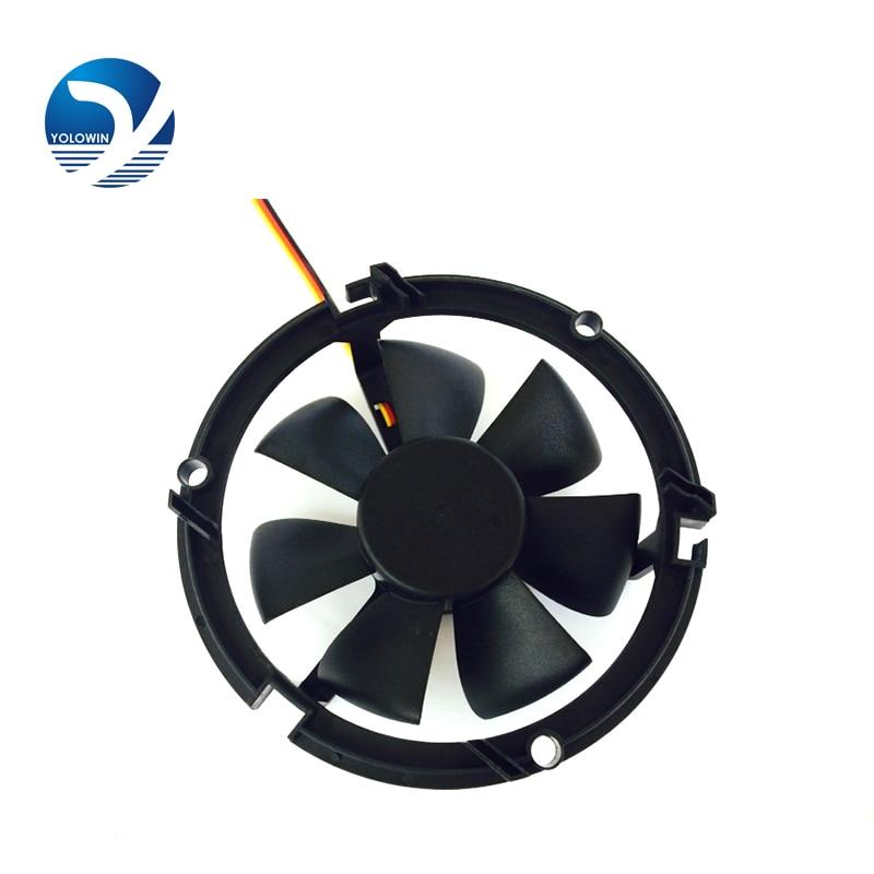 12v LED fan centros comerciales downlights ventilador de refrigeración 90 * 90 * 25mm 3200RPM 3 líneas Componentes de computadora YL-0046