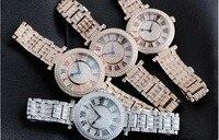GOOD LUCK Designer Women Rotating Watches Fashion Luxury Crystals Dress Wrist watch Classic Roman Quartz Relogios Montre Femme
