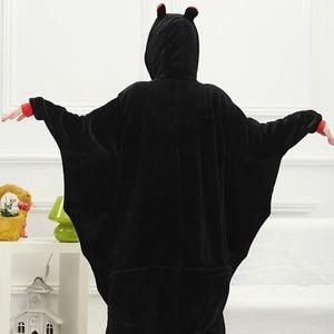 Image 2 - Adult Animal Kigurumi Onepiece Women Men Party Anime Black Bat Cosplay Onesies Costumes Soft Funny Cartoon Pajamas Girl Boy