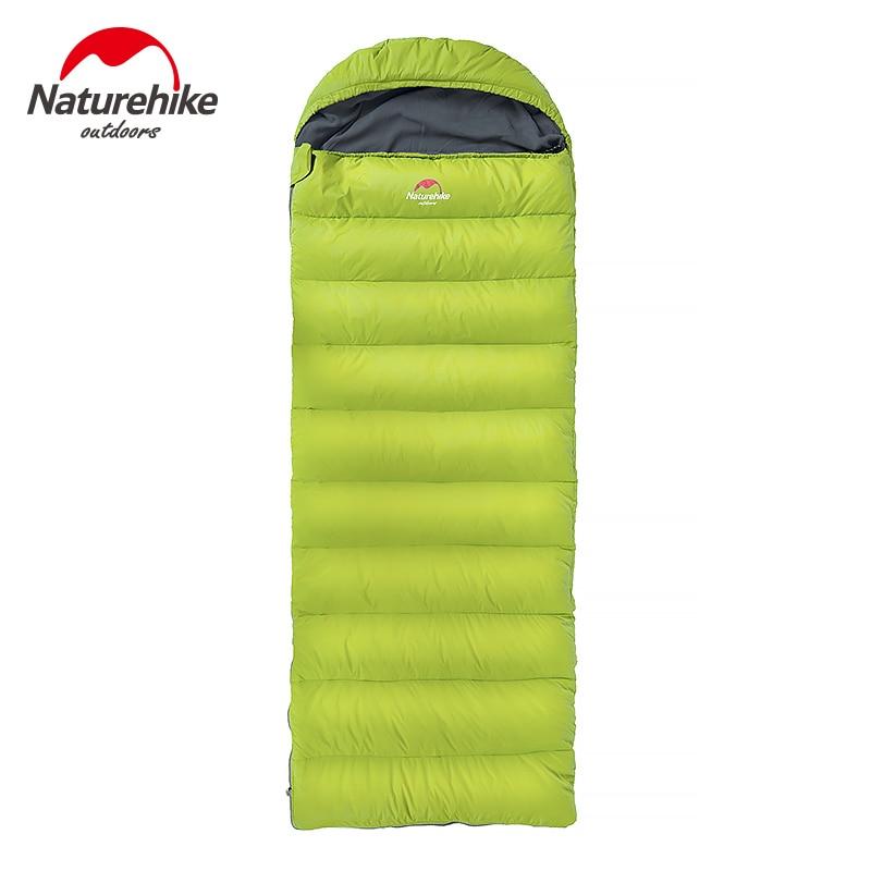 Naturehike 3 цвета портативный конверт спальный мешок зима Сверхлегкий мм 750x2200 мм Кемпинг путешествия дома подпушка перо ленивый 1,7 кг