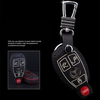 Genuine Leather Cover Wallet Key Remote Case 2008 2016 2017 For Mercedes Benz W203 W210 W211