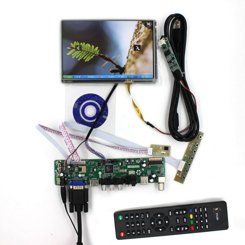 все цены на  TV/PC/HDMI/CVBS/RF/USB/AUDIO driver Board+7