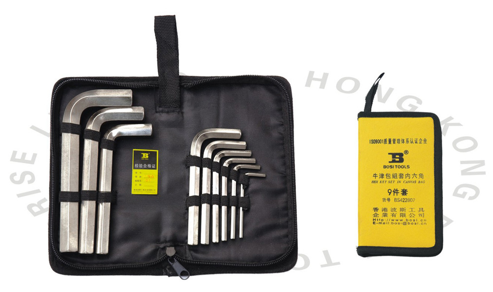 ФОТО  3 17mm 9pc allen hex wrench in a portable bag
