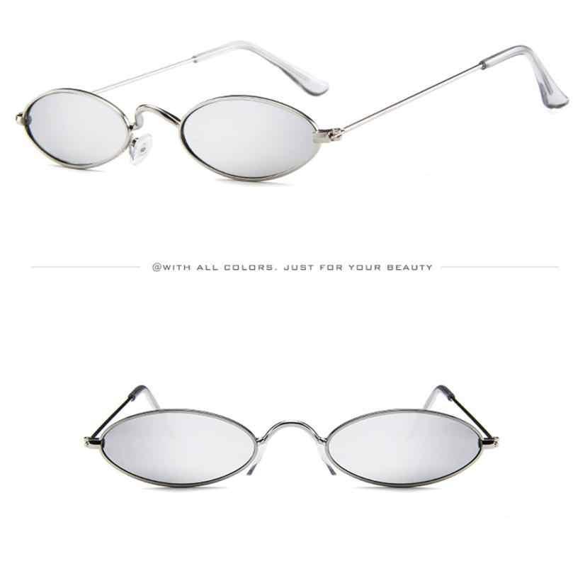 Feitong ファッションレディースサングラスレトロ因果スモールオーバルサングラス金属フレームシェード太陽眼鏡 oculos デゾル feminino 2020