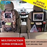 Car Seat Organizer Seat Lại Đa Bỏ Túi Xe Xe Organizer Lưu Trữ Box túi bé kids car seat ipad treo bag đối với xe ghế bao gồm