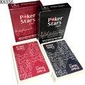 Novo baccarat texas holdem em plástico jogando cartas de poker à prova dwaterproof água geada cartão pokerstar tabuleiro jogo 2.48*3.46 polegada k8356
