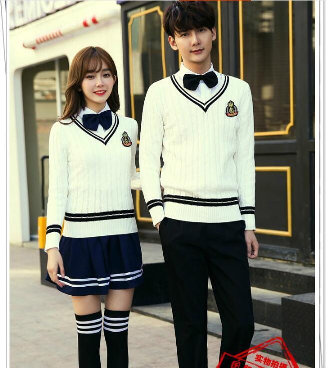 Uniforme de lycée cours d'anglais service étudiant tricots costume 5XL