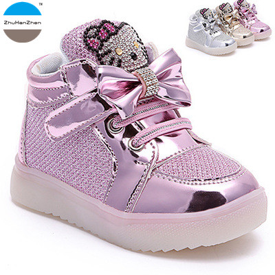 5bd318c1 2018 1-10 años de edad bebé niña luces zapatos moda botas cortas niños  casual