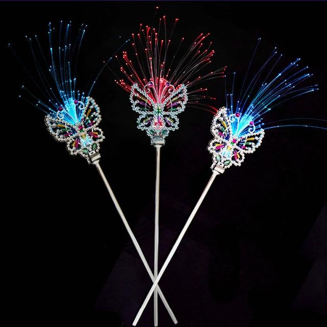 Cool Rhinestone Fiber Light Girls Princess Fairy Led