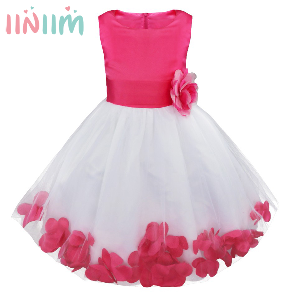 Flower Girl Kids Dress Formal Party Ball Gown Prom Bridesmaid Wedding Clothes Dresses for Girl Children's Clothing Holiday Dress 2017 new flower embroidery girl dresses pageant party wedding bridesmaid ball gown prom princess long dress girl clothes