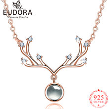Ожерелье из серебра 925 пробы с подвеской в виде рогов