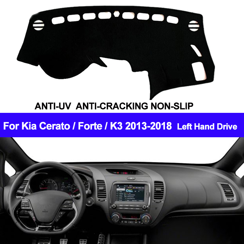 TAIJS Car Dashboard Cover Dash Mat Dash Pad DashMat Carpet ANti-UV NON-Slip For Kia Cerato Forte K3 2013-2015 2016 2017 2018TAIJS Car Dashboard Cover Dash Mat Dash Pad DashMat Carpet ANti-UV NON-Slip For Kia Cerato Forte K3 2013-2015 2016 2017 2018