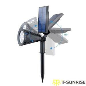Image 2 - T SUNRISE 4 Pack Solar Powered Lampe IP65 Wasserdicht 4 LED Wand Licht für Garten Hof Dekoration Grüne Farbe
