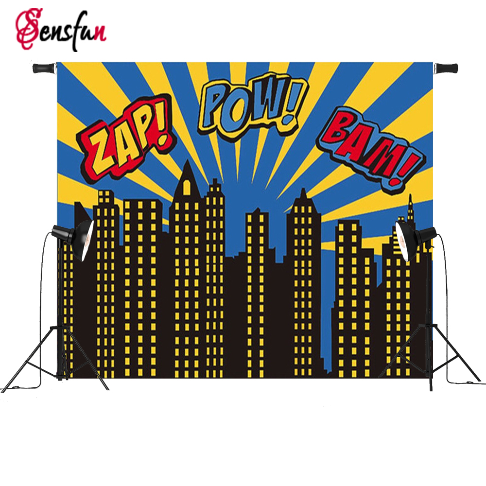 Vinyl Cloth Photography Background Superhero Theme Buildings For Studio Photo Backdrops Props 7x5ft 3x5ft ruins printing brick wall photography backdrops photo studio props vinyl photography background cloth 90 x 150cm