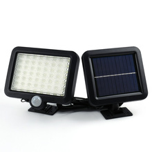 2017 Hot Selling Solar Led Powered  Garden Lawn Lights Outdoor Infrared Sensor Light 56 LED Solar Motion Detection Wall Light