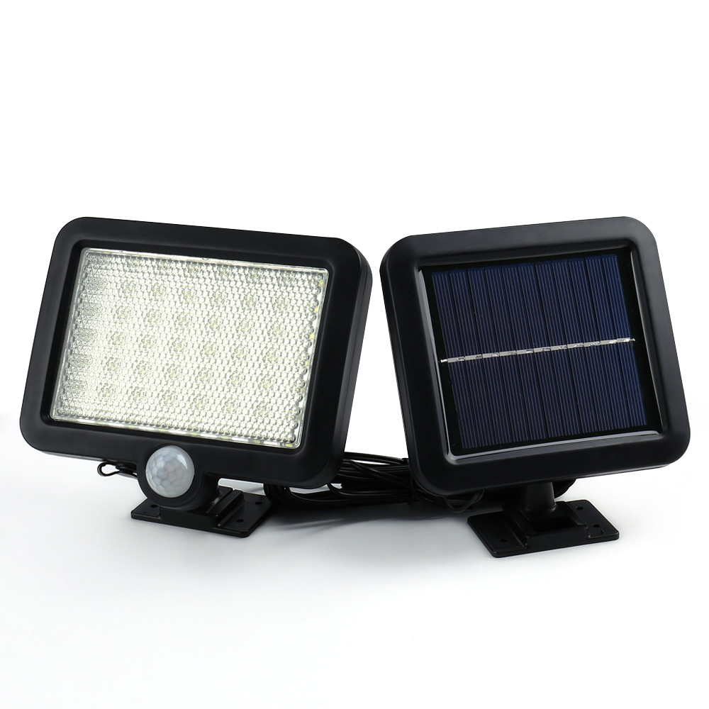 Ledertek Hot Selling Solar Led Powered Garden Lawn Lights Outdoor Infrared Sensor Light 56 LED Solar Motion Detection Wall Light