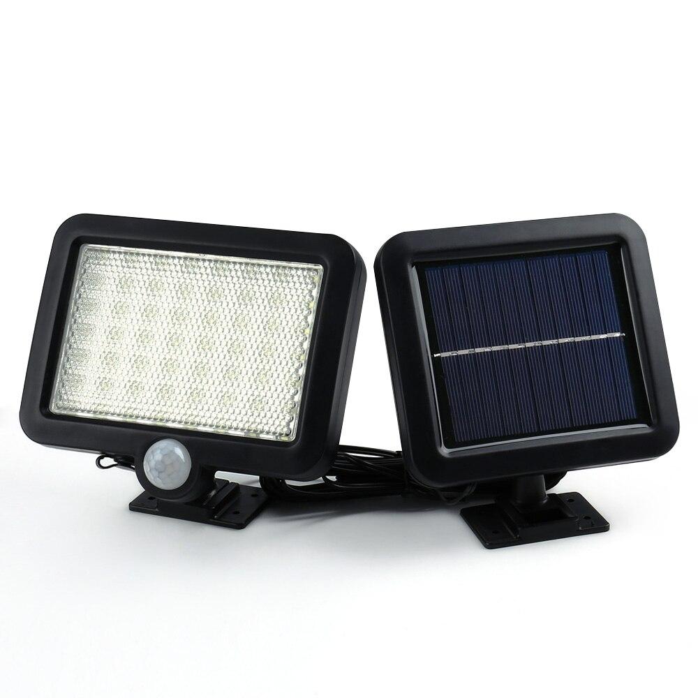 Ledertek Hot Selling Solar <font><b>Led</b></font> Powered Garden Lawn <font><b>Lights</b></font> <font><b>Outdoor</b></font> Infrared Sensor <font><b>Light</b></font> 56 <font><b>LED</b></font> Solar Motion Detection Wall <font><b>Light</b></font>