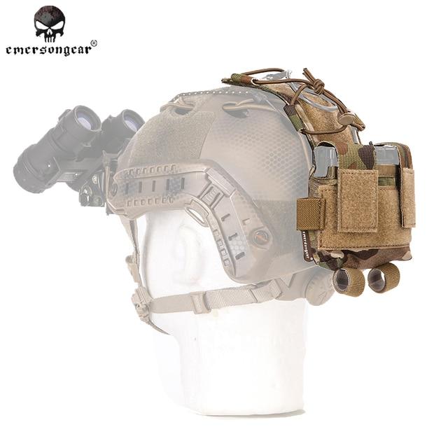 Emersongear MK2 de la caja de la batería para el casco táctico molle bolsa emerson molle bolsa contrapeso bolsa casco de Nylon camuflaje