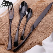 (4Pcs/lot) New High-grade polished 18/10 stainless steel flatware set 1xknife 2xspoons 1xfork New home dinner cutlery sets Gifts