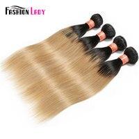 Mode Dame Pré-Couleur Brut Indien Vague de Corps de Cheveux Bundles 100% de Cheveux Humains 1B/27 Blonde Cheveux Armure 4 Bundle Offres Non-Remy