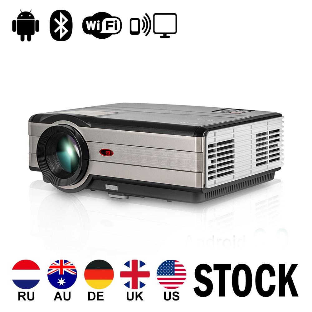 CAIWEI Smart LCD LED Projecteur Android WiFi Proyector Home Cinéma Beamer Sans Fil Sync HD 1080 P Film Audio Vidéo TV HDMI