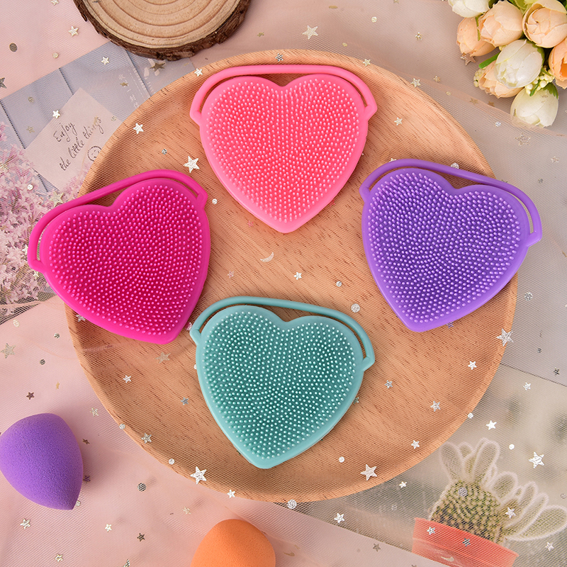 Soft Silicone Heart Facial Cleansing Brush Face Washing Exfoliating Blackhead Brush Remover Skin Spa Scrub Pad Tool New Arrival Beauty & Health Face Skin Care Tools
