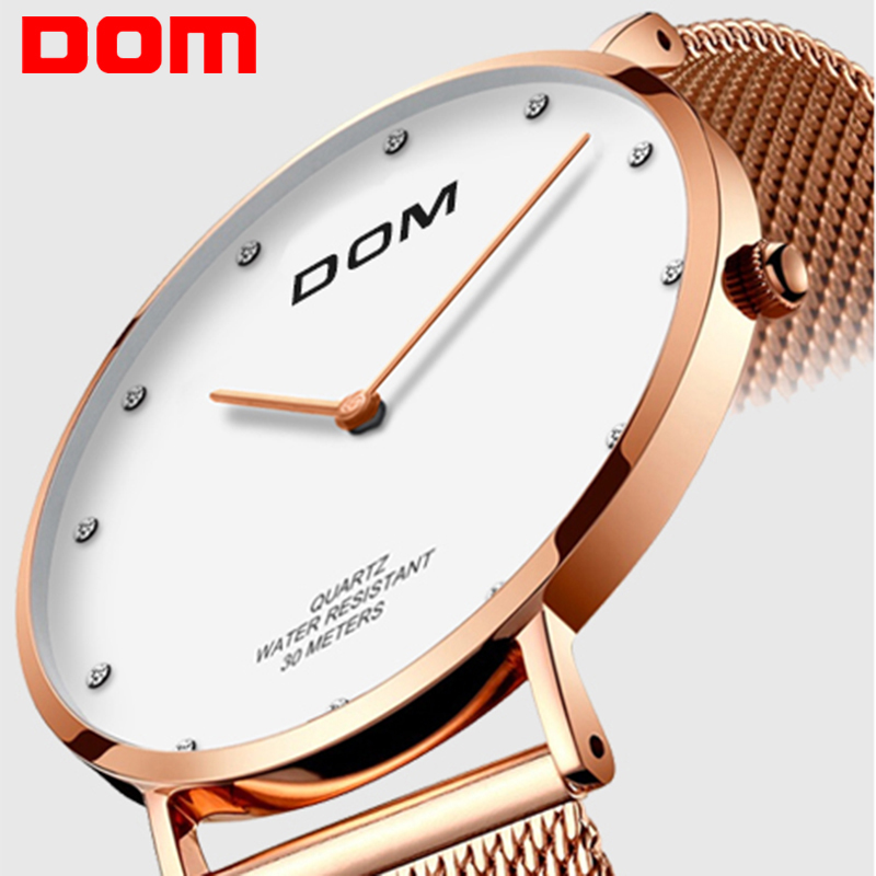 Watches Audacious Dom Ultra Thin Women Watch Dress Luxury Brand Wristwatch Casual Fashion Leather Mesh Strap Quartz Watch Women Relogio Feminino At Any Cost