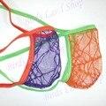 Hot HOMENS POSANDO BOLSA Tanga STRING C-thru Spider Net G3679 Empurrar Para a frente