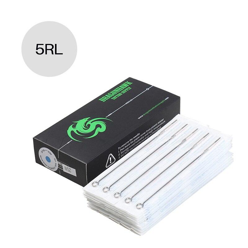 Box of 50pcs 5RL Round Liner Premade Sterilized Tattoo Needles Supply MT-5RL*50