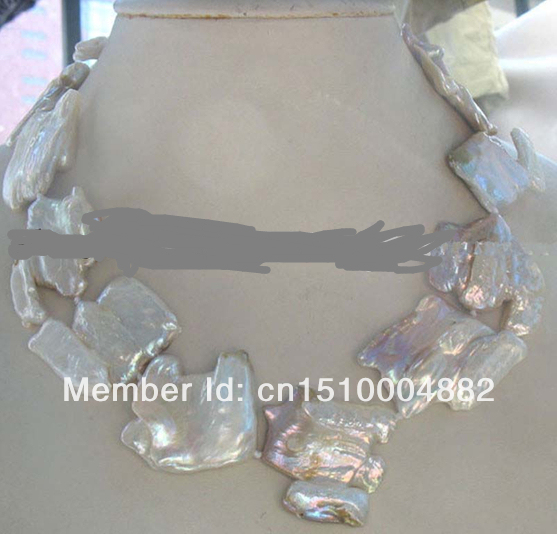 shitou 0014 freshwater pearl purple square reborn keshi necklace
