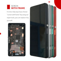 ORIGINAL Touch Screen LCD For SONY Xperia Z3 Compact Display Frame Z3Mini D5803 D5833 Digitizer For