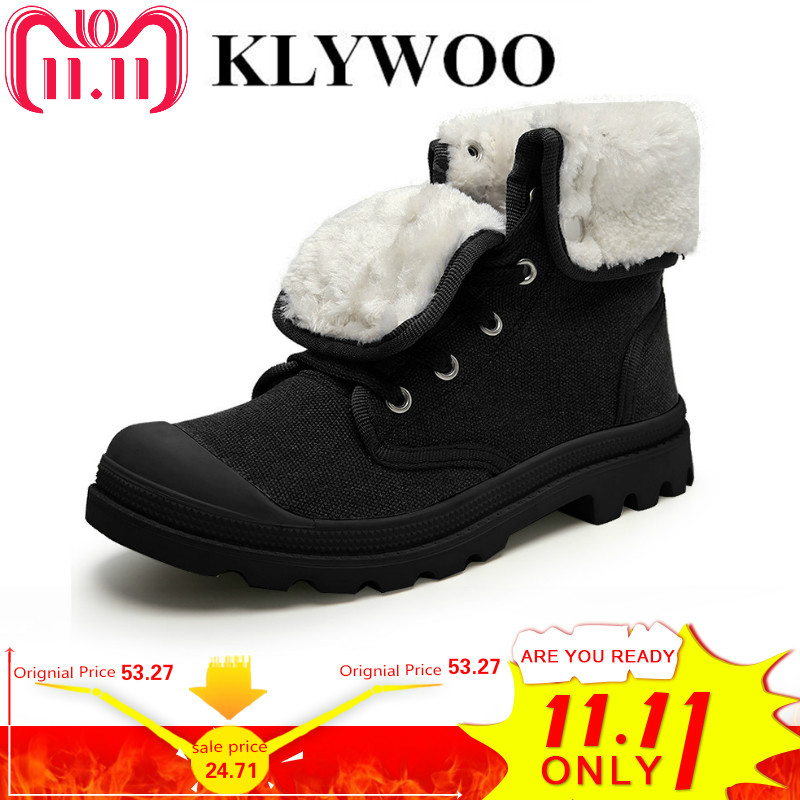 купить KLYWOO Hot Casual Men Shoes High Top Fashion New Winter Lace-Up Casual Ankle Boots Autumn Shoes Men Canvas Shoes Zapatos Hombre по цене 3591.17 рублей