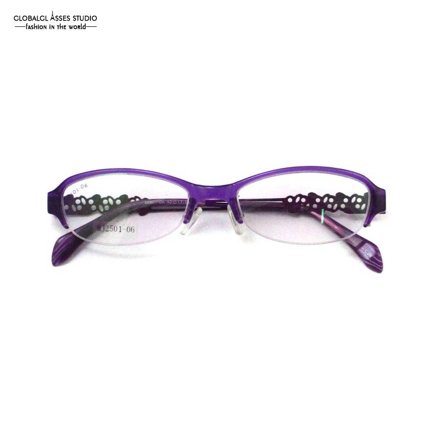 Flexible Licht Ovale Linse Halbrand Brillen Rahmen Frauen Glänzenden ...