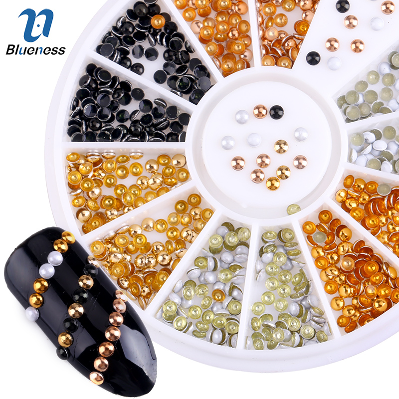 Semicircle Plated 6 Color Round...