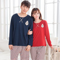 2015 Couples pyjamas long-sleeved cotton men sleepwear large size spring and autumn clothing home cute cartoon kigurumi pajamas