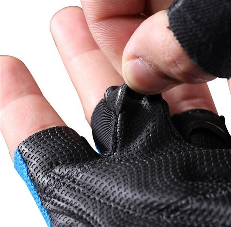 ROCKBROS Cycling Bike Gloves Half Finger Shockproof Breathable MTB Mountain Bicycle Sports Gloves Men Women Cycling Equipment in Cycling Gloves from Sports Entertainment