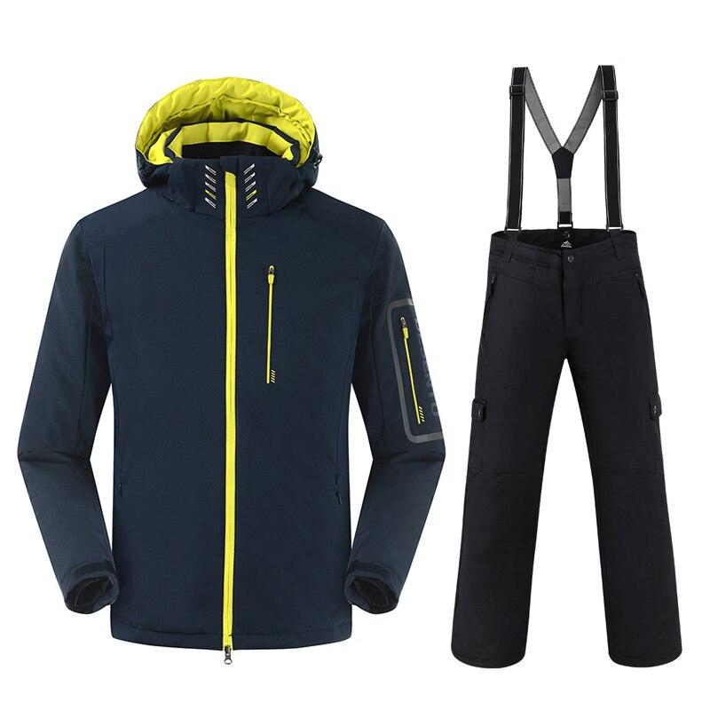 SAENSHING -30 Degree Warm Snowboarding Suits Men Winter Ski Suit Male Waterproof 10000 Breathable Snow Jacket Snowboard Pant Set