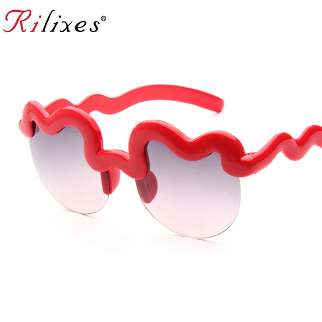 RILIXES Kids Sunglasses Children wave Style Brand Design Boys Sun Glasses UV400 Protection Outdoor Sport Girls Sunglases