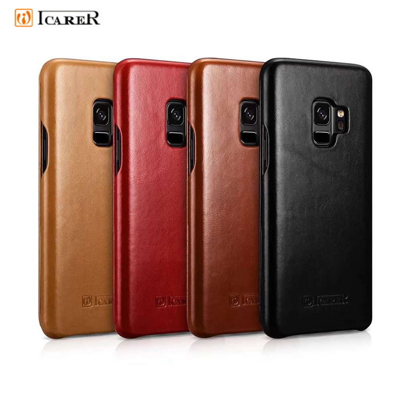 iCarer Brand For Samsung galaxy S9 Case Flip Leather Protection For Samsung S9 Plus Case Vintage Phone Cover Black Brown Red