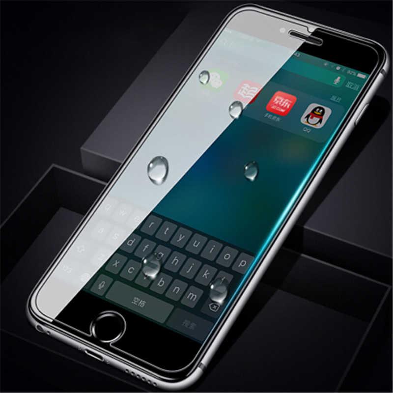 高品質強化ガラススクリーンプロテクター iphone 5 5 s 5C SE 6 6 s 7 8 プラス X XR XS 最大 9 H 超スリム保護フィルムカバー