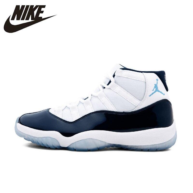 best service 8cc2e 8b816 US $117.67 30% OFF|Original Authentic Nike Air Jordan11 Retro Win Like 96  Men's Basketball Shoes Sport Outdoor AJ11 Sneakers Athletic 378037 123-in  ...