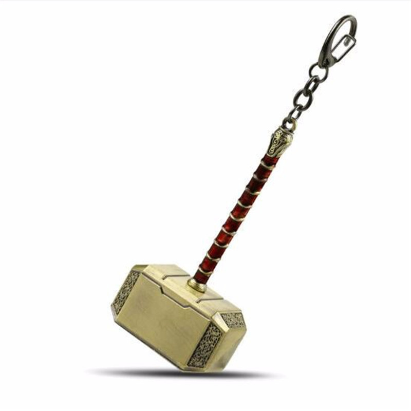 HSIC Mixed Movie The Avengers 3 Infinity War Thor Axe Hammer Keychain Thor Stormbreaker Key Chain Keyring Men Jewelry Wholesale