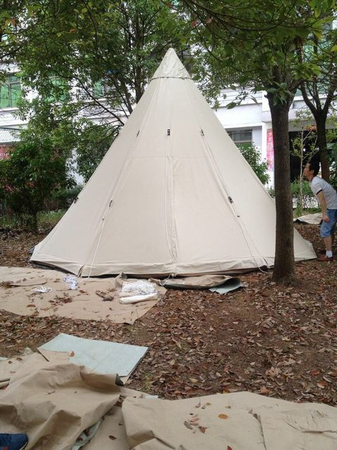 FREE SHIPPING!  HOT SALE 4m Dia outdoor camping tent ,teepee tent ,indian tipi tent ,bell tent
