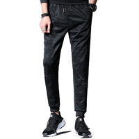 2017 Summer Fashion Men Elastic Waist Pants Black Camouflage Sportswear Cotton Trousers Plus Size 4XL Male Casual Pencil Pants