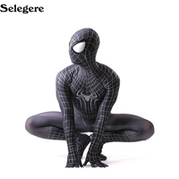 10pcs Cosplay Superhero Spider Man 3D Print Zentai Bodysuit for Adults Halloween Cosplay Spiderman Costume Newest Good Quality