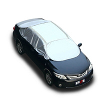 Universal Car Half Covers Sunshade Styling Foil Waterproof Thicken Car Snow Shield Anti UV Snow Protection Covers For Cars