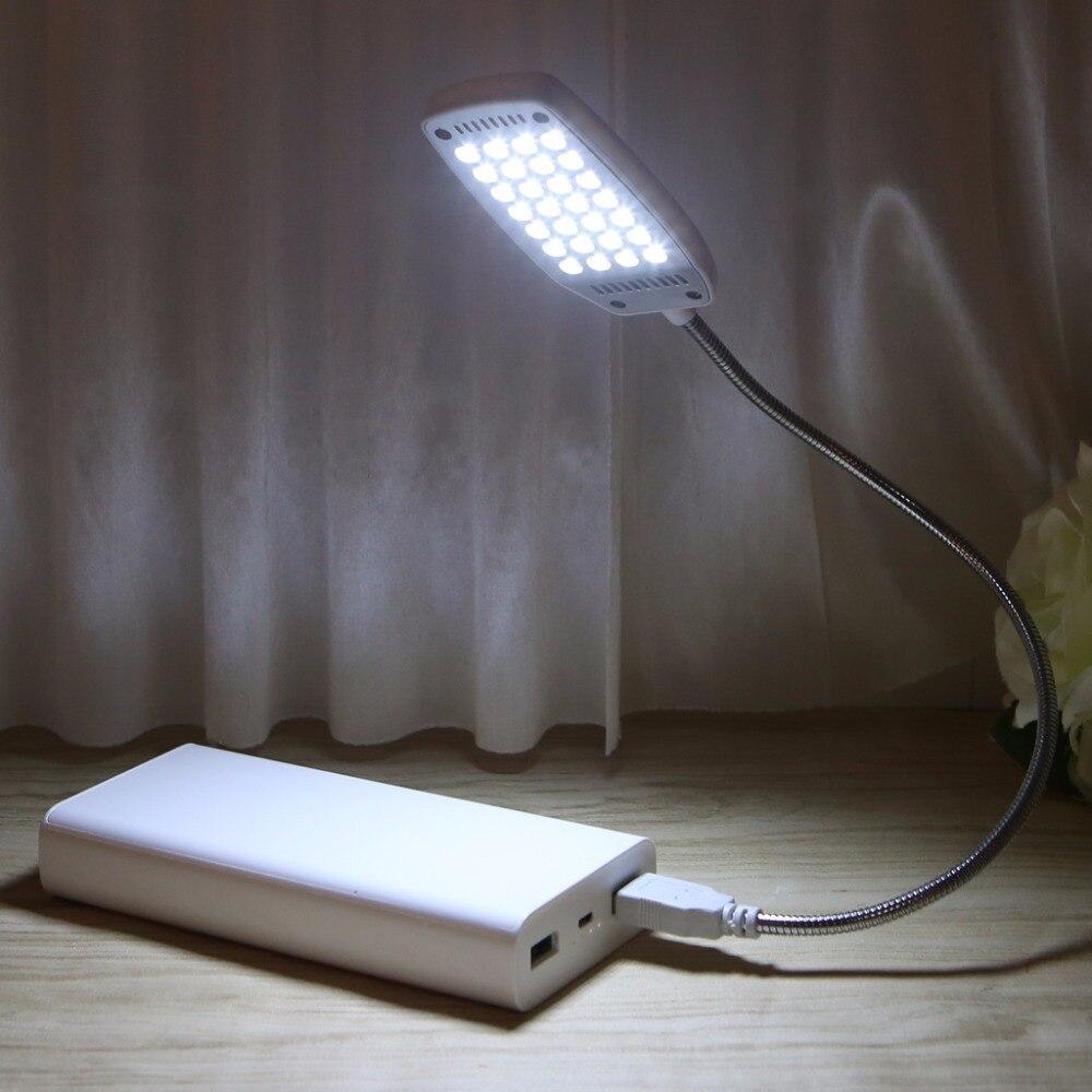 Купить с кэшбэком HNGCHOIGE 28 LED Flexible Computer Light Laptop Lamp Desktop PC Desk Reading Mini  USB LED Lamp With Button