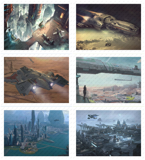 Star Citizen White kraft paper poster wallpaper wall sticker Decorative paintings Game Poster