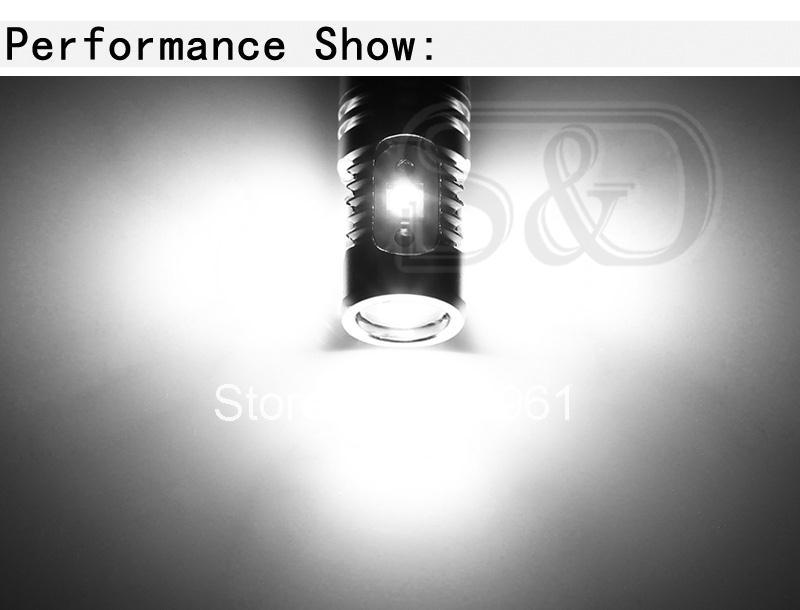 S& D H3 светодиодный лампы с высокой мощностью светодиодный чип супер-лампы белого цвета для противотуманных фар Автомобильные дневные ходовые огни белый 6000K 12 V-24 V D030