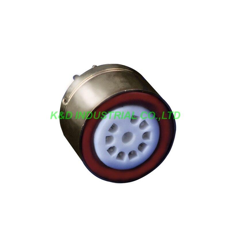 1 pc 6SN7 6SL7 adaptateur de Tube plaqué or convertisseur prise pour tube 9pin à 8pin